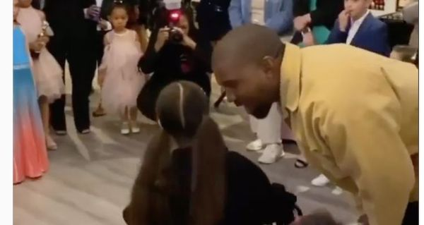 Kanye West Attends North West's School Dance