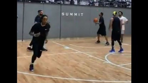 Watch Drake, Quavo, Sheck Wes and Justin Bieber Ball It Out