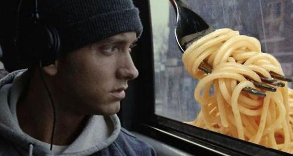 "Eminem Donates ""Mom's Spaghetti"" To Detroit Hospitals"