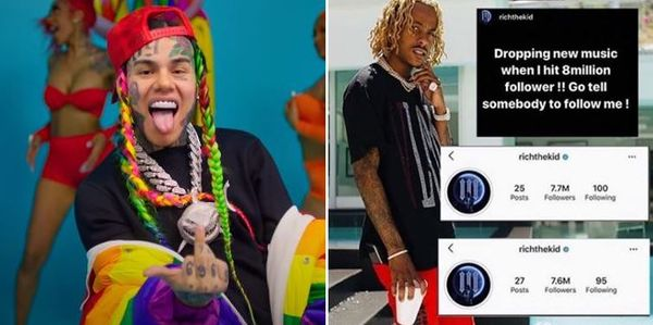 Tekashi 6ix9ine To Take Drastic Step If Rich The Kid Loses Even More Followers