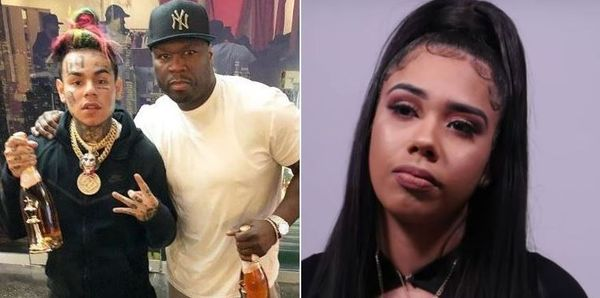 Tekashi 6ix9ine's Baby Mama Accuses Him Of Abuse; Says 50 Cent Helped Him Hide Money