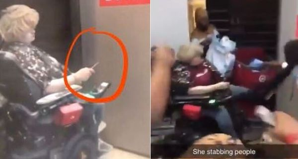 Young White Woman In Wheelchair Sprayed With Fire Extinguisher After Stabbing Looters