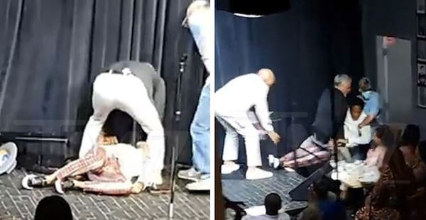 D.L. Hughley Collapses On Stage