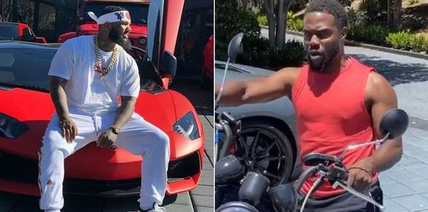 Kevin Hart Pulls Up on The Game & Tries To Swap Motorcycle For Super Car