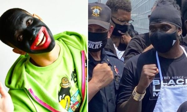 Pusha T's Photo with Police Officer Gets Compared to Drake's Blackface Pic