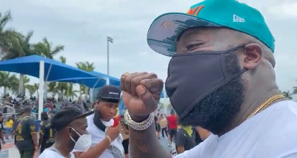 Rick Ross Spotted At George Floyd Protest In Miami