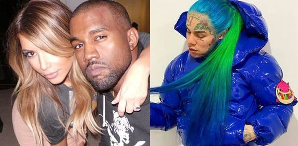 Tekashi 6ix9ine Praises Kanye West And Kim Kardashian After Twitter Co-sign