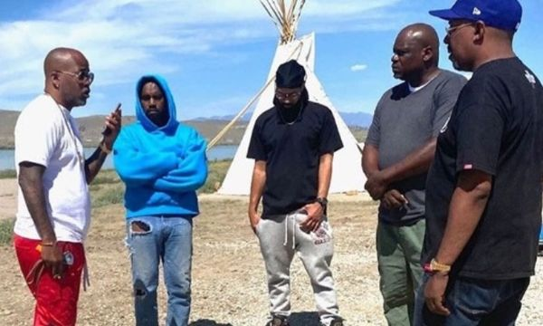 Damon Dash Arrives in Wyoming to Help Kanye West
