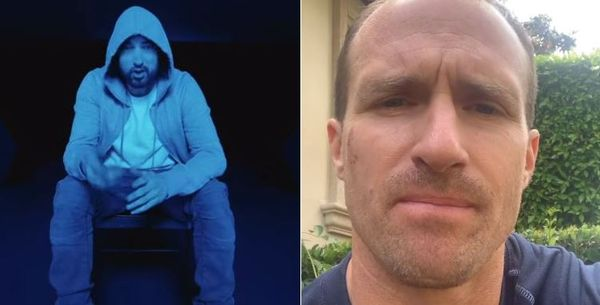 Eminem Goes After Drew Brees, Non Mask Wearers & The Cops On Kid Cudi Collab
