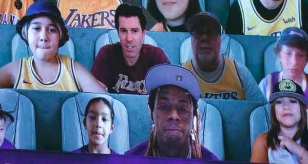 Lil Wayne Caught Smoking Weed As Lakers Virtual Fan