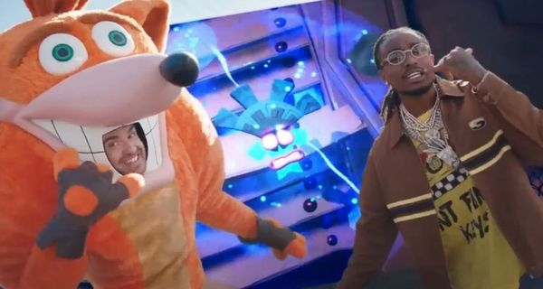 Quavo Stars & Raps In New Crash Bandicoot Commercial