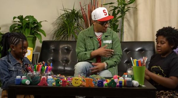"T.I. Tries To Explain ""Rubber Band Man"" To Children"
