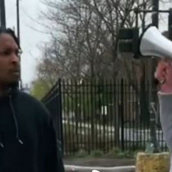Watch White Rapper GD Pull Up On O-Block With Megaphone & Ask For Smoke
