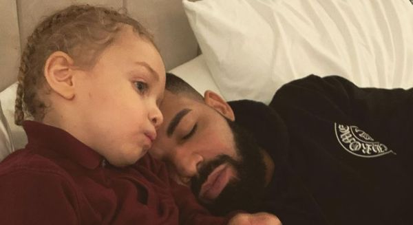 Drake Is Using His Son Adonis's Head To Promo His New Album